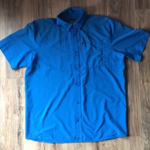 Under Armour Bright Blue Vented Button Down Shirt